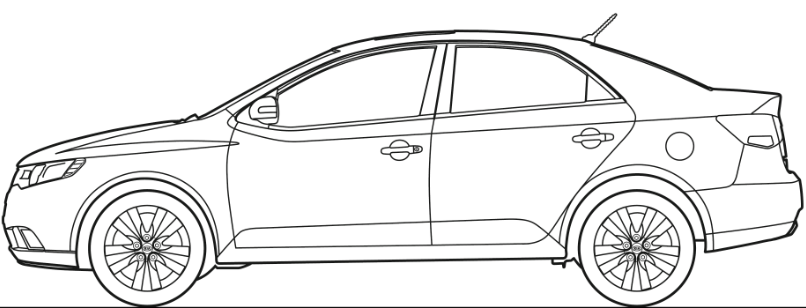 Kia Car Coloring Pages : Kia sorento coloring pages sketch page